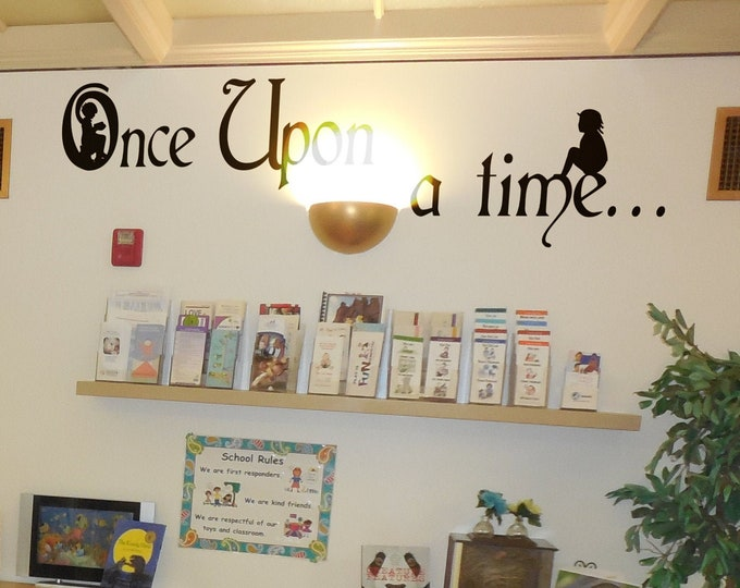 Once Upon a Time - Adorable Story-Telling Room wall decal - Magical minds collection - Home Decor, Interior and wall Design, Kids, Fantasy