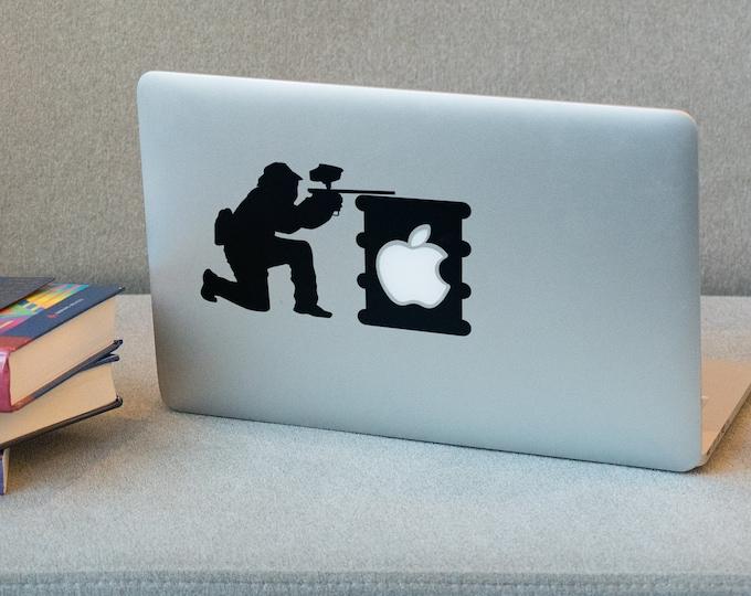 Paintball Sniper - Mac Decal, Paint, Ball, Macbook Sticker, Radical Sports, Action Sport, Gun, Fire, Shoot, Shooting, War Games