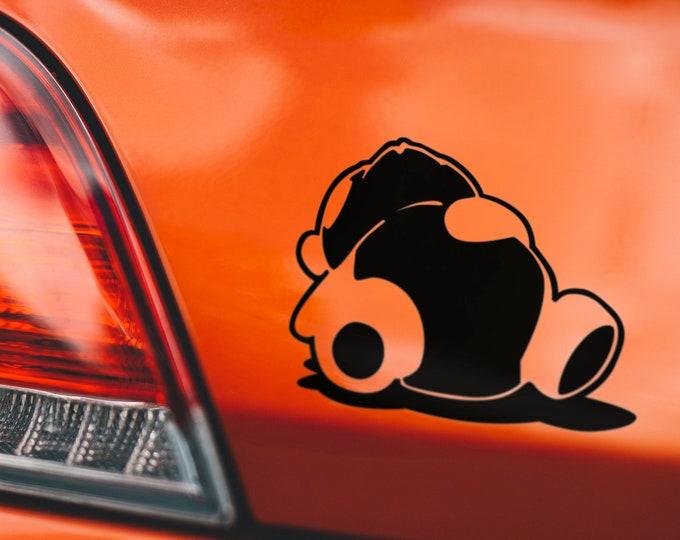 Sleeping Panda - Japanese Domestic Market Themed Die Cut Vinyl Sticker, JDM, Car Sticker, Decal, Turbo, Japan Cars, Asian, Motors, Fast