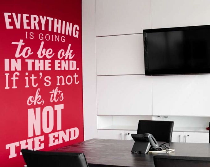 Motivational Decal - John Lennon - Everything will be okay in the end. If it's not okay, it's not the end., Motivational Vinyl collection