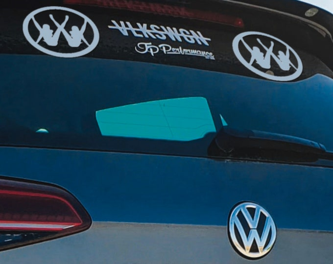 Panty Dropper - German Car Version - Die Cut Vinyl Sticker, Drift, Car, Decal, Fun, Funny Sticker, Car decals, Epic, Brutal, VW
