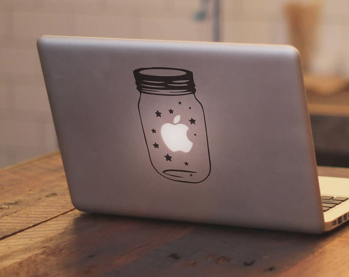 Jar of Lucky Stars Decal Sticker, Laptop Decal, Ideal for gift or self use, Magical Minds Collection, mac, Macbook Decal Sticker
