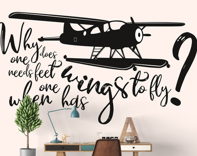 Typography wall decal based on the DeHavillant Beaver DHC-2 MKI sea plane