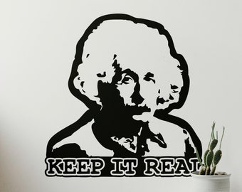 Keep it real - Einstein Composition - Ready for cut, print, engrave, SVG - Perfect for plotters, CNCs, Laser cutters - Instant File Delivery
