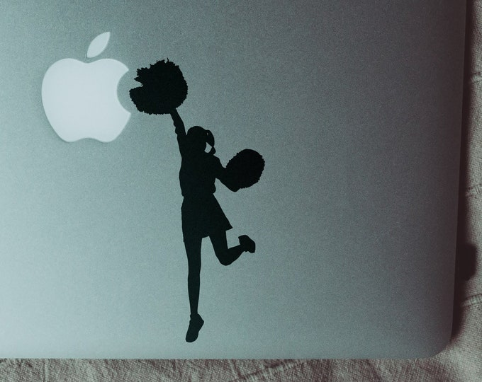 Cheerleader Version 2 - laptop decal Sticker, mac, Macbook Sticker, decals, pro, air, retina, Sticker, cheerleaders, cheerleading