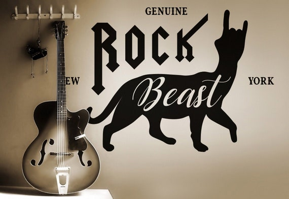 Rock Beast - Wall decals for Rock Lovers, Many colors and Sizes available