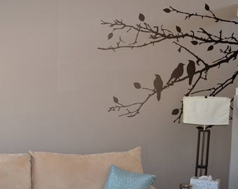 Birds on Branches Wall Decal Sticker, Beautiful Birds, Interior Design, Interior Wall Decal