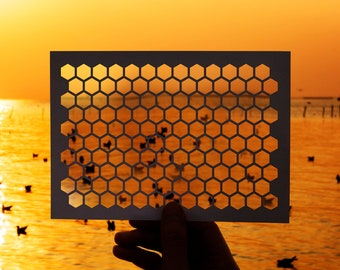 SVG | Seamless Honeycomb Pattern // Cut Files // Digital Stencil // Cut Files // eps pdf psd dxf jpg png bmp