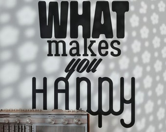 SVG   Do more of what makes you happy // Vector Typography // Universally Compatible Cut Files // eps pdf psd dxf jpg png bmp