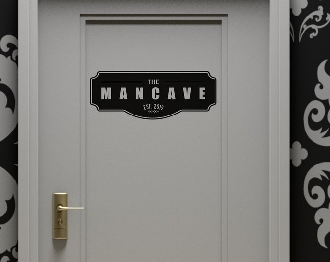 The ManCave wall / door sign, A must get item for all the men out there, A very useful and distinct sign about a man's lair of enjoyment
