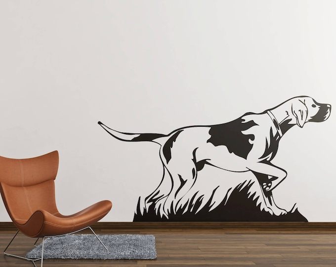 Pointer Hunting Dog Decal Sticker, Hunt, Four Legged Friend, Dogs, Pet Pets, Wall decals for home improvement