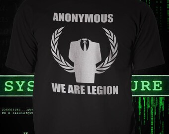 Anonymous, Hacker Group, Black Tshirt tribute