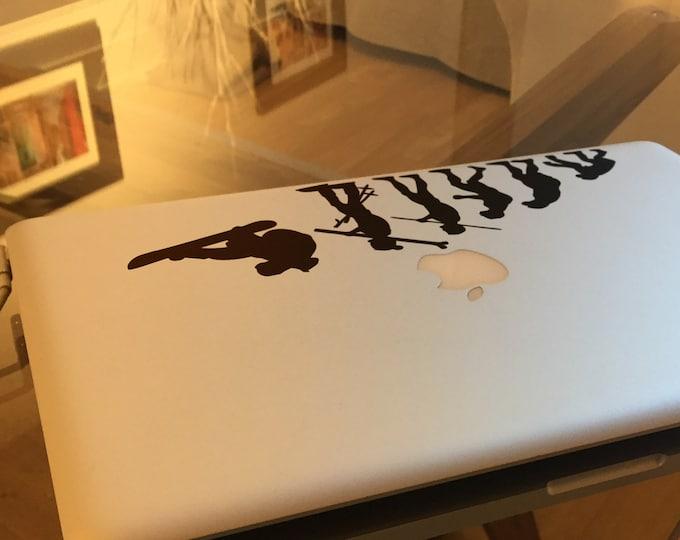 Evolution of Mountain Sports - Decal Sticker, Snow, Snowboard, Ski, Runner, Slalom, Rider, Monoski, Skiing, mac, Macbook, Decal, Stickers
