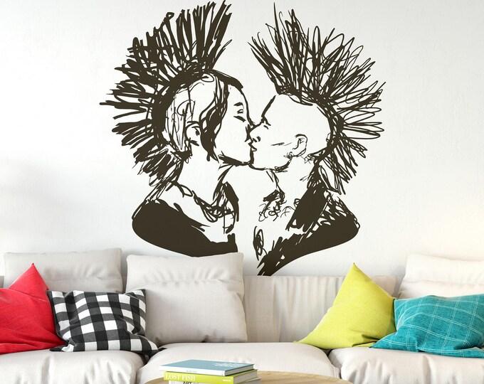 Hardcore Love - Wall decals / stickers for urban souls, Punk Punkrock Emo Goth Grunge Rock Bands Emogirl Metal Poppunk Wall Decal