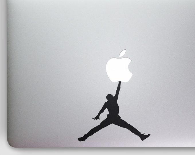 Make the Jump - BasketBall Decal Sticker  | Basket ball NBA Sports Baller Player Slam Dunk, mac, Macbook Decal Sticker