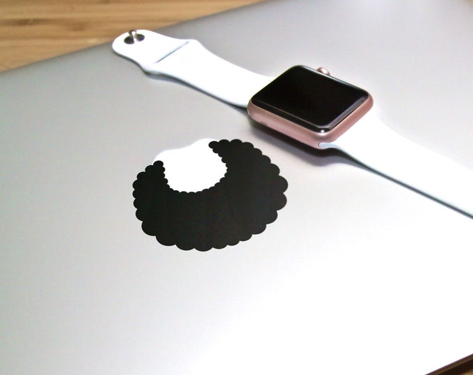 Afro Hair Decal Sticker, Africa, African, Black Man, Hairstyle Cool Hipster, mac, Curly hair, Macbook Decal Sticker