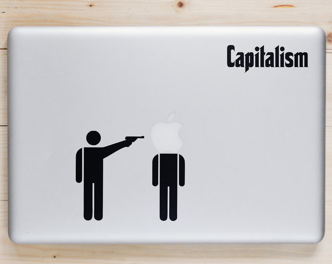 Capitalism Decal Sticker for Apple Macbook | Funny Sticker for Macbooks | Call to action | Change the world | Lenin | Imperialism