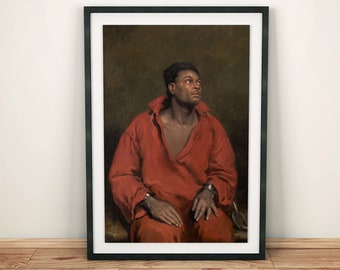 The Captive Slave - High Quality Print - John Philip Simpson, 1827 - A powerful abolitionist statement