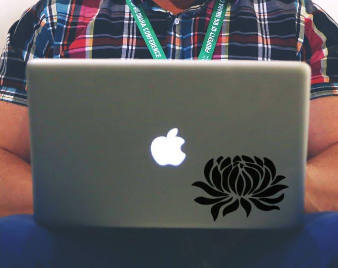 Water Lily Decal Sticker, Laptop Vinyl Sticker Skin, Nymphaeaceae, Plants, Flower, Flowers, Lilies, mac, Macbook Decal Sticker