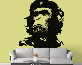 The Monkey General - Che Chimp  - Ready for cut, print or engrave - Perfect for plotters, CNCs, Laser cutters - Instant File Delivery