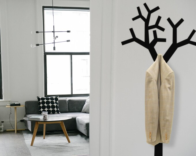 Tree Clothes Hanger Wall Decal, Home Decor, Home Improvement Ideas, Coat Hook, Hooks Hangers, Interior Design Ideas
