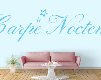 Carpe Noctem, Seize the Night,  Motivational Vinyl Decal / Sticker collection for wall / window decor