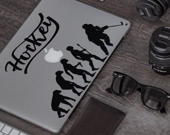 Man Evolution in Hockey Ver 2.0Decal Sticker for Macbooks, Laptops, Laptop, Macbook, Stick, Ice Sport Bandy Roller Sledge Street Foot Air