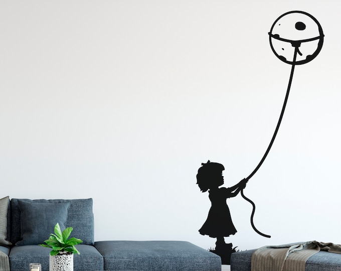 Featured listing image: Rope the Moon - Adorable fantasy imaginary universe - Wall Decal for Home Decor, Inspiring, Wall tattoo, Interior Design, Kids, Dream big