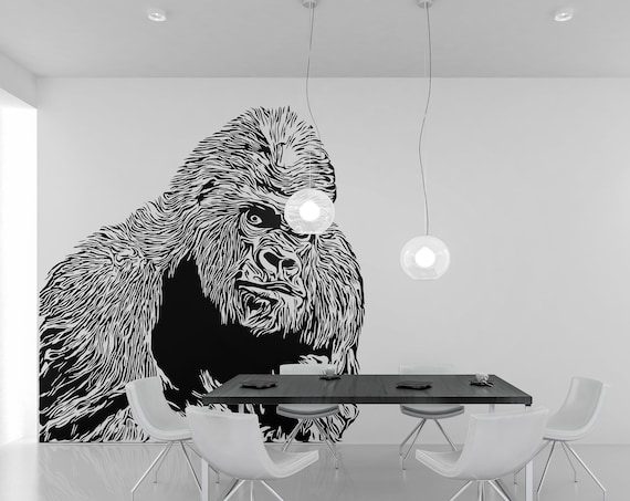 Looking Gorilla  - Digital Download Item - Ready to cut decal or print [svg - pdf - dxf - png - jpg - pdf - ai - eps - dpp - plt - dwg]