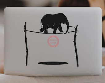 SVG | The Elephant and the Rope // Laptops // Vector // Universally Compatible Cut Files // eps pdf psd dxf jpg png bmp