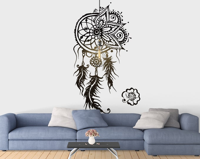 Dream Catcher Wall Decal - Vintage Style, Mural, Decals, Magical Minds Collection, Gift for her, Bedroom, Living room, Interior Design