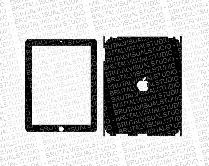 Apple iPad Gen 1 - Skin Cut Template  - Templates for cutting or machining - Digital Download - Plotter, CNC, Laser Cutter - SVG