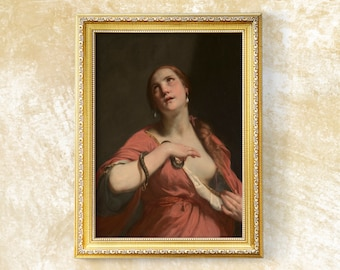 The Death of Cleopatra - High Quality print - Original of Guido Cagnacci - Oil on Canvas - 1645 to 1655