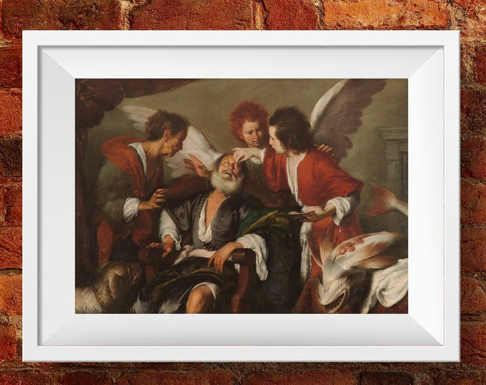 Tobias Curing His Father's Blindness - High Quality print made with Gloss Photo Paper - Original of Bernardo Strozzi - Venice