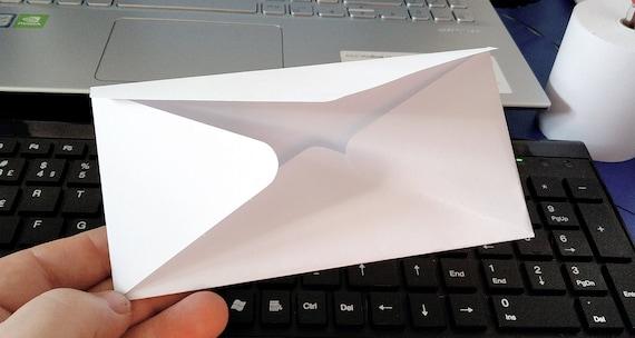 Digital Download Item - Rectangular type envelope - Ready to cut template, print or both [svg - pdf - dxf - png - jpg - pdf - ai]