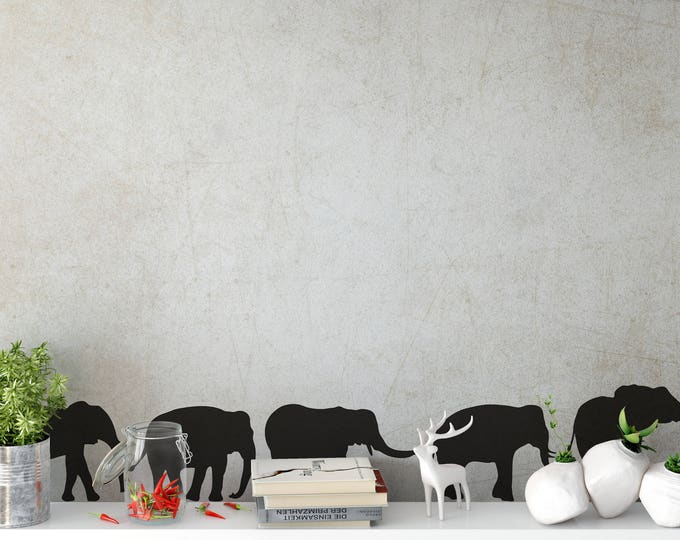 Elephants herd, Family, Wall Decal, Wall Stickers, Home improvement, Home decor, Interior Design, Wild Animals Collection Decals