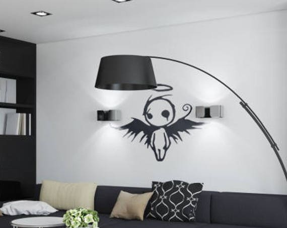 Gothic Angel - Wall decals for gothic souls, Many colors and Sizes available