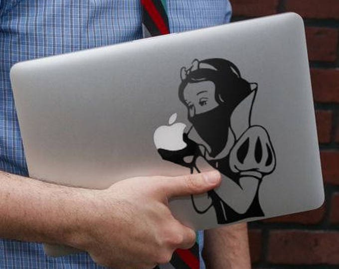 The Bandit Princess Wants an Apple - Decal Sticker for Apple Macbook or other Laptops, Vinyl decals for retina Macbooks, Laptop pro