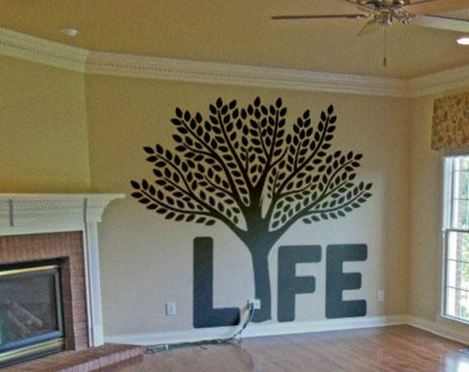 Tree of life vinyl decal / sticker for wall or window decor, The Science in cosmic evolution and religion philosophies, Garden of Eden