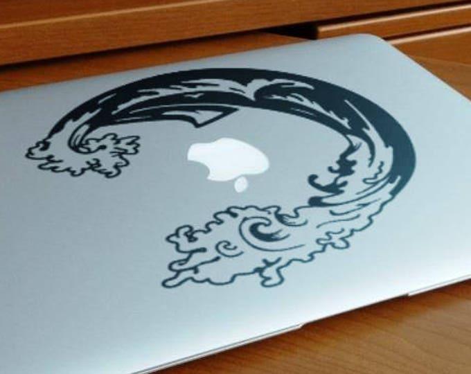 The Sea Storm decal, Tempest, Fight, Inner Search, mac, Macbook Decal Sticker
