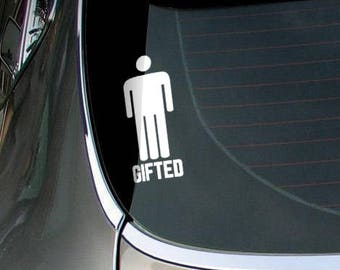 Gifted - Die Cut Vinyl Decal Sticker for cars, windows and walls, JDM DRIFT, Car Sticker, Decal, Gag Gift Fun Funny Tuning Car Decal