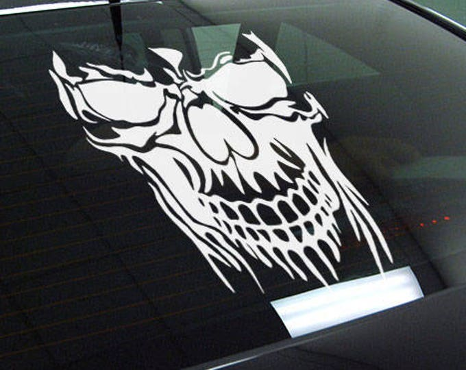 Skull - Die Cut Vinyl Sticker, JDM DRIFT, Car Sticker, Decal, Motorsports cars decals, Tuning fans