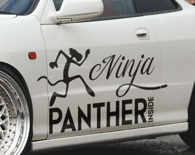 Ninja Panther Inside - JDM Die Cut Vinyl Sticker, EPIC Decal For Cars or Motorcycles, Racing Decal Sticker, Funny decal