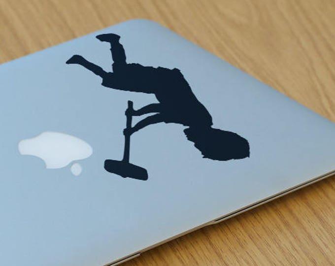 Banksy Child with Sledgehammer, Laptop Macbook, Graffiti and Urban art, Hammer Boy, mac, Macbook Decal Sticker