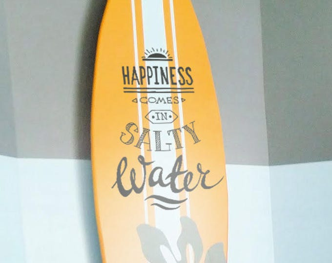 Happiness Comes in Salty Water, Decal / Sticker, Motivational Vinyl Poster collection for wall decor, Beach