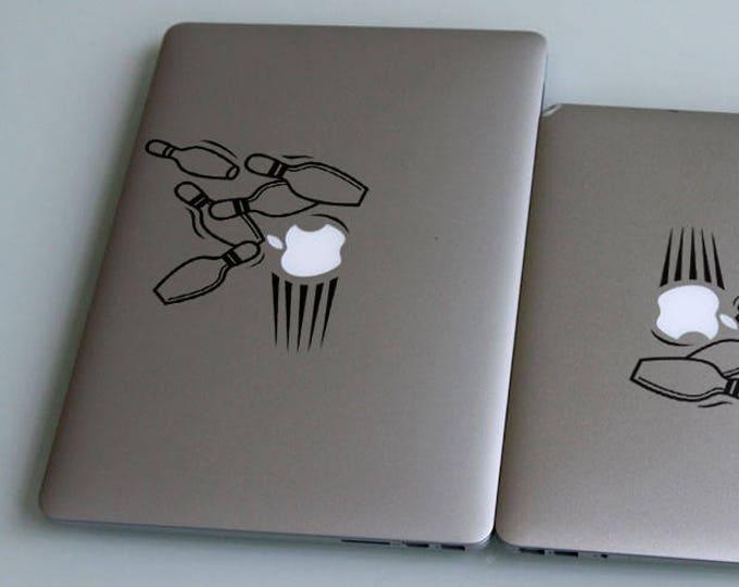 Bowling Ball Decal Sticker, DuckPin CandlePin FivePin ThreePin, Sport Decals, Strike, mac, Macbook Decal Sticker