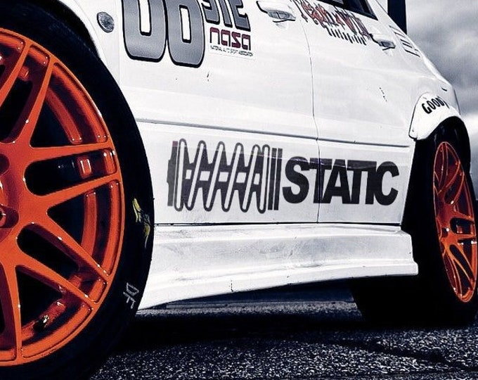 Static Ver 2.0 - Vinyl Stickers for cars, JDM, DRIFT, Car Sticker, Decal, Tuning, Stance, Static suspension, coilovers, Lowrider