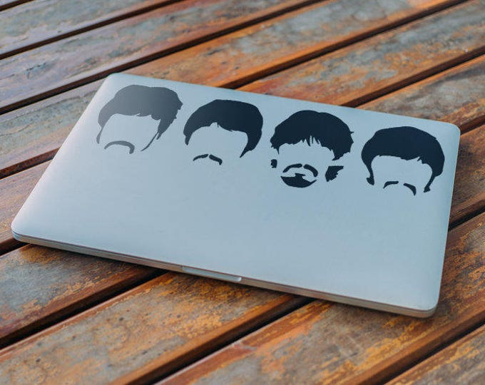The Beatles HairStyles, Decal Sticker, Skin, MAC, John Lennon, Paul McCartney, George Harrison, Ringo Star, Macbook Decal Sticker