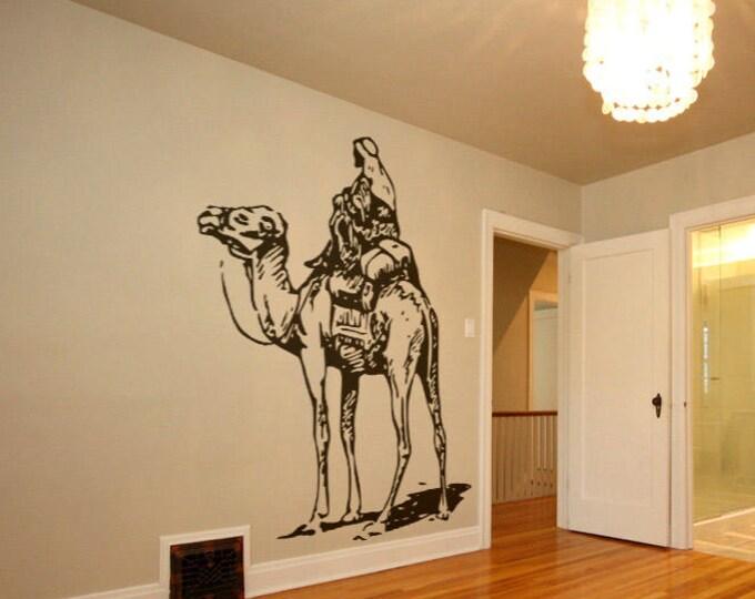 Camel Jockey wall decal sticker, Arabic mural collection, Australia Oman Camel Racing Pakistan Saudi Arabia Egypt Bahrain Jordan Qatar UAE