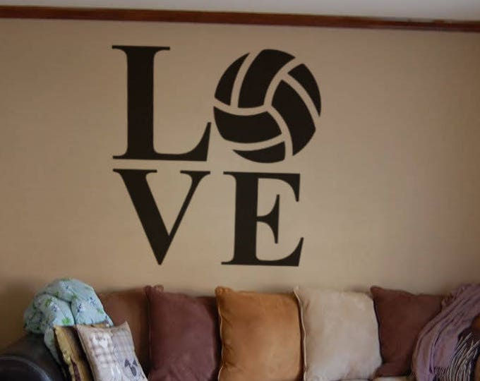 Love Volleyball - Typography Wall Decals for Home Decor, Lettering, Game, World League, Volley, Olympic Games, William G. Morgan